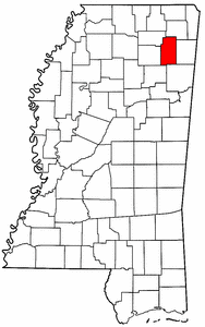 Image:Map of Mississippi highlighting Lee County.png