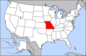 Map of the U.S. with Missouri highlighted