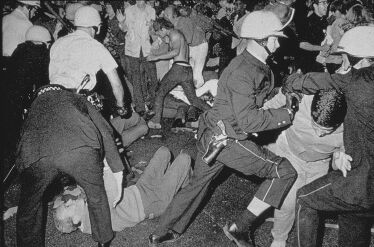 Rioting at the Democratic Convention in Chicago, 1968