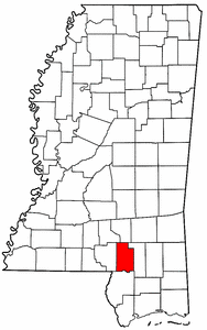 Image:Map of Mississippi highlighting Lamar County.png