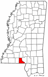 Image:Map of Mississippi highlighting Walthall County.png