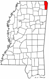 Image:Map of Mississippi highlighting Tishomingo County.png