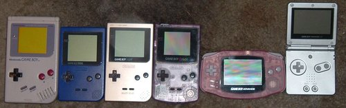 The various generations of Game Boy