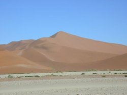 Complex dune: Dune 7 in Namib desert, one of the tallest in the world.