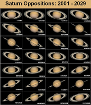 Saturn Oppositions: 2001-2029