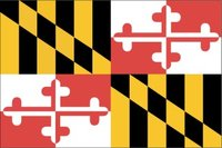 Flag of Maryland. Image provided by Classroom Clip Art (http://classroomclipart.com)