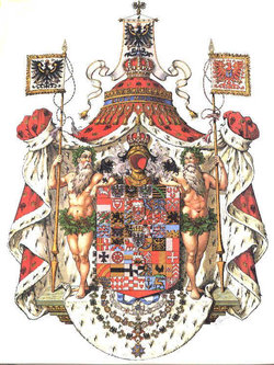 The coat of arms of the Kingdom of Prussia, 1701-1918