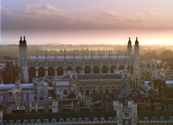 View over ,  and  towards  Chapel, seen from  chapel. On the left, just in front of Kings College chapel, is the University