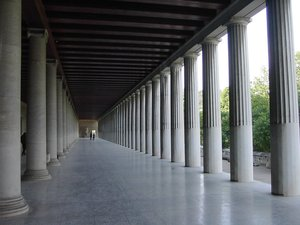 The restored Stoa of Attalus, Athens