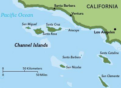 Islands Off California Coast Map Channel Islands of California   Academic Kids